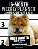 """2018-2019 Weekly Planner - Most Wanted Chow Chow: Daily Diary Monthly Yearly Calendar Large 8.5"""" x 11"""" Schedule Journal Organizer (Dog Planners 2018-2019) (Volume 30)"""