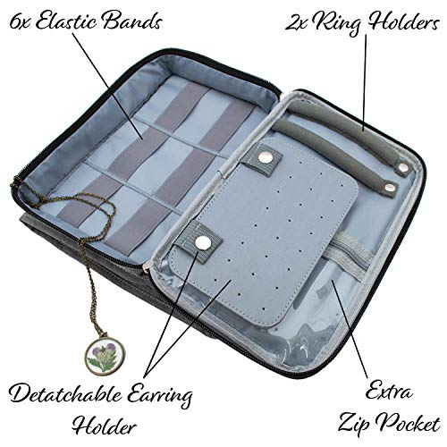 Travel Jewelry Organizer Carrying Case - PLUS Shoe Bags. Hanging Holder and Storage For Accessories by Endlessly Wanderlust (Image #4)