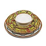 "Royal Porcelain ""Butterfly"" 5pc White & Yellow Dinnerware Set, Service for 1, Elite bone china porcelain"