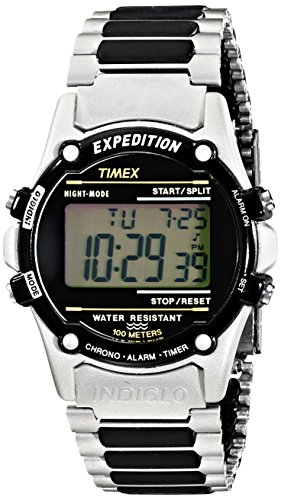 Timex Atlantis 100 Men's | Silver-Tone Case & Bracelet Indiglo Watch T77517 ()