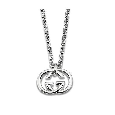 2e3e6d01dd3 Amazon.com  Gucci Women s 50cm Silver Britt Necklace Silver  Jewelry