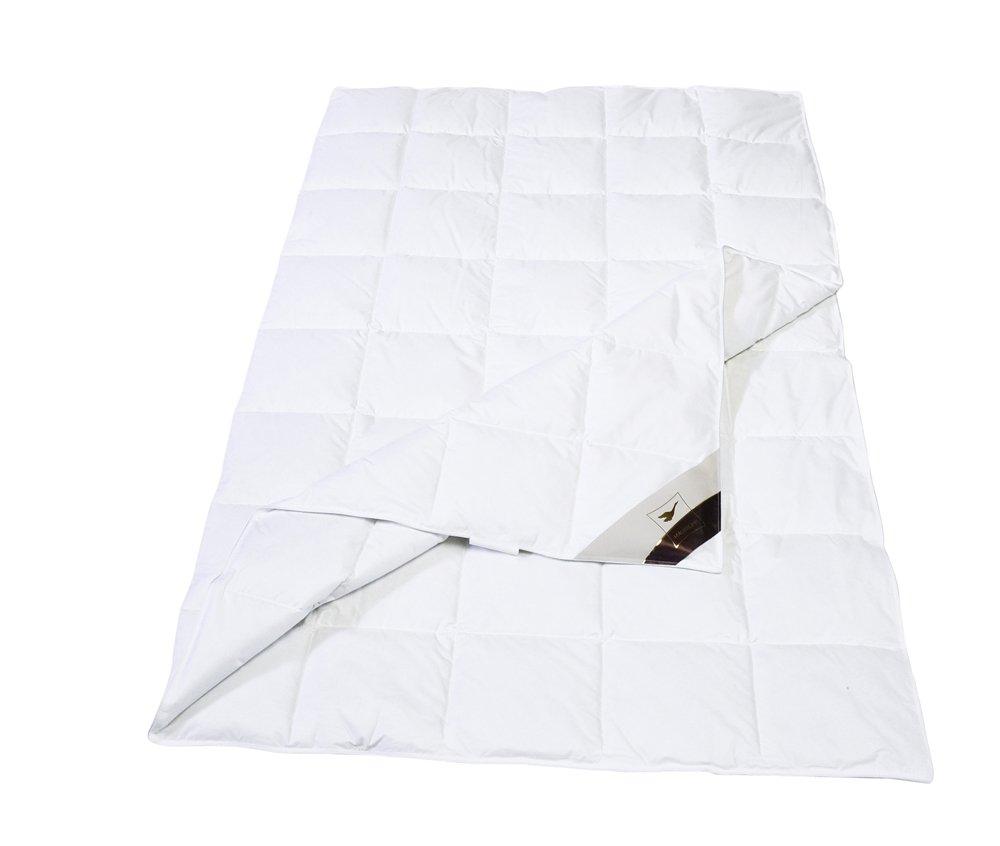 Häussling 410380701505 Sommerdaunendecke Royal 8 x 10-Karo, 155 x 200 cm, weiß