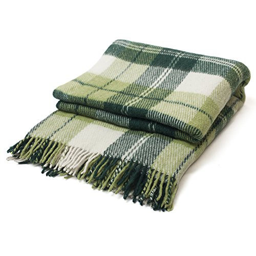 Luxury Green Plaid Throw Blanket product image
