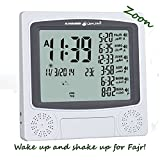 Zoon - Harameen HA-4010 Wall or standing | Muslim Azan Clock for Office or Home | All US Cities | Special Fajr Alarm | Hijri & Gregorian (Grey)