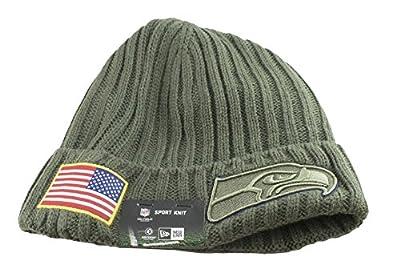 New Era Men's Men's Seahawks 2017 Salute to Service Cuffed Knit Hat