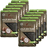 Kyпить Itsumo Wild Yellowfin Ahi in Extra Virgin Coconut Oil (10 Packets Canned Tuna Fish) - Natural Sustainable - No Drain на Amazon.com