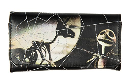 Disney The Nightmare Before Christmas Jack And Zero Web Flap Fold Wallet ()
