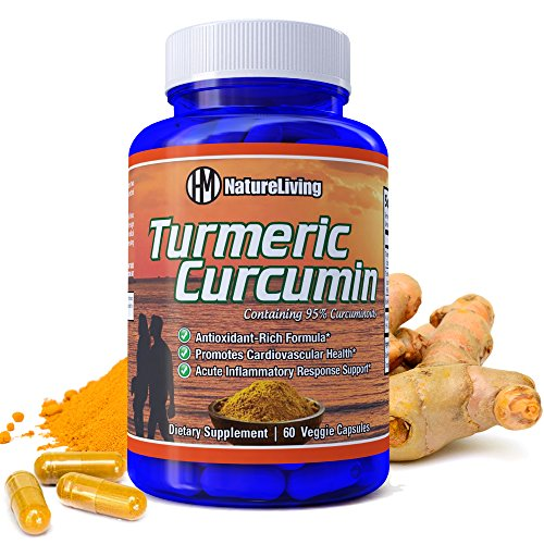 Turmeric Curcumin with Bioperine 1400mg. Highest Potency Available. Premium Pain Relief & Joint Support with 95% Standardized Curcuminoids. Non-GMO, Gluten Free Turmeric Capsule With Black Pepper