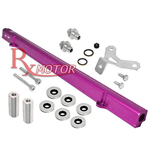 80 / 2JZ-GTE / 2JZ Turbo Engines ALUMINUM INTAKE MANIFOLD INJECTION RAIL FITTING (Purple) (Billet Aluminum Intake Manifold)