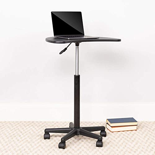Flash Furniture Black Sit to Stand Mobile Laptop Computer Desk
