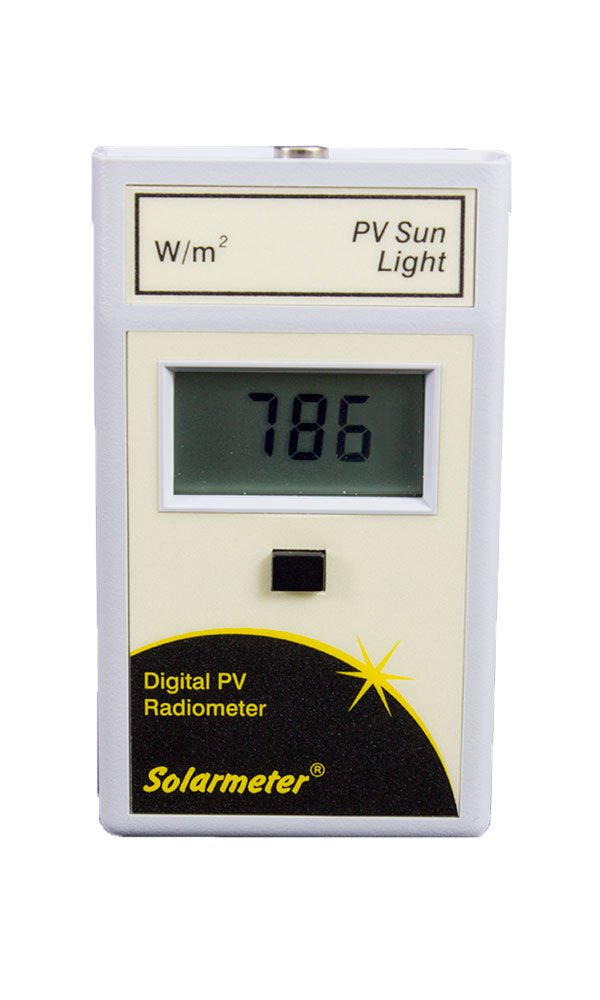 Solarmeter Model 10.0 Global Solar Power Meter - Measures 400-1100nm with range from 0-1999 W/m²