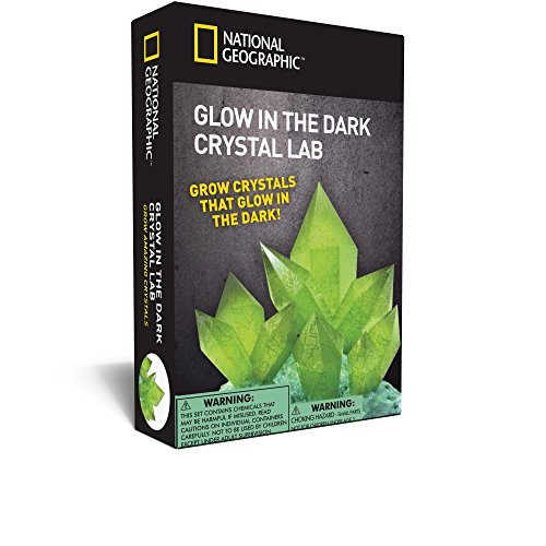 NATIONAL GEOGRAPHIC Glow-in-the-Dark Crystal Growing Lab - DIY Crystal Creation - Includes Real Fluorite Crystal -