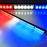 "Evershine Signal ES-316-7 41"" Emergency Warning Traffic Advisor Vehicle Led Strobe Light Bar 42W 12V DC with Different Colros and Sizes Optional Fit for Car Roof Deck -Red White Blue (ES-316-7)"
