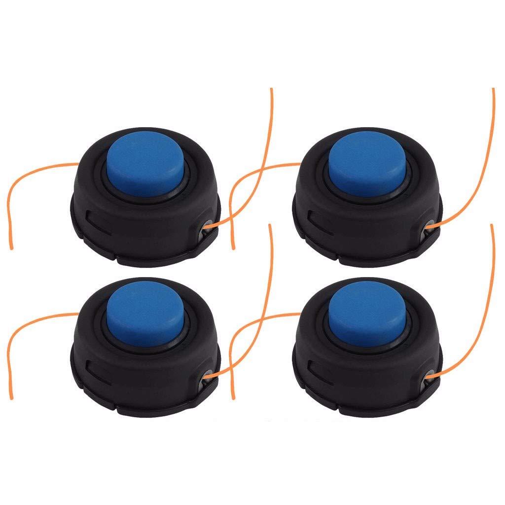 QUICATCH for Husqvarna T35 Auto Feed Tap Advance Trimmer Head 10mm Dual Line 2/3/4PCS (4PC)
