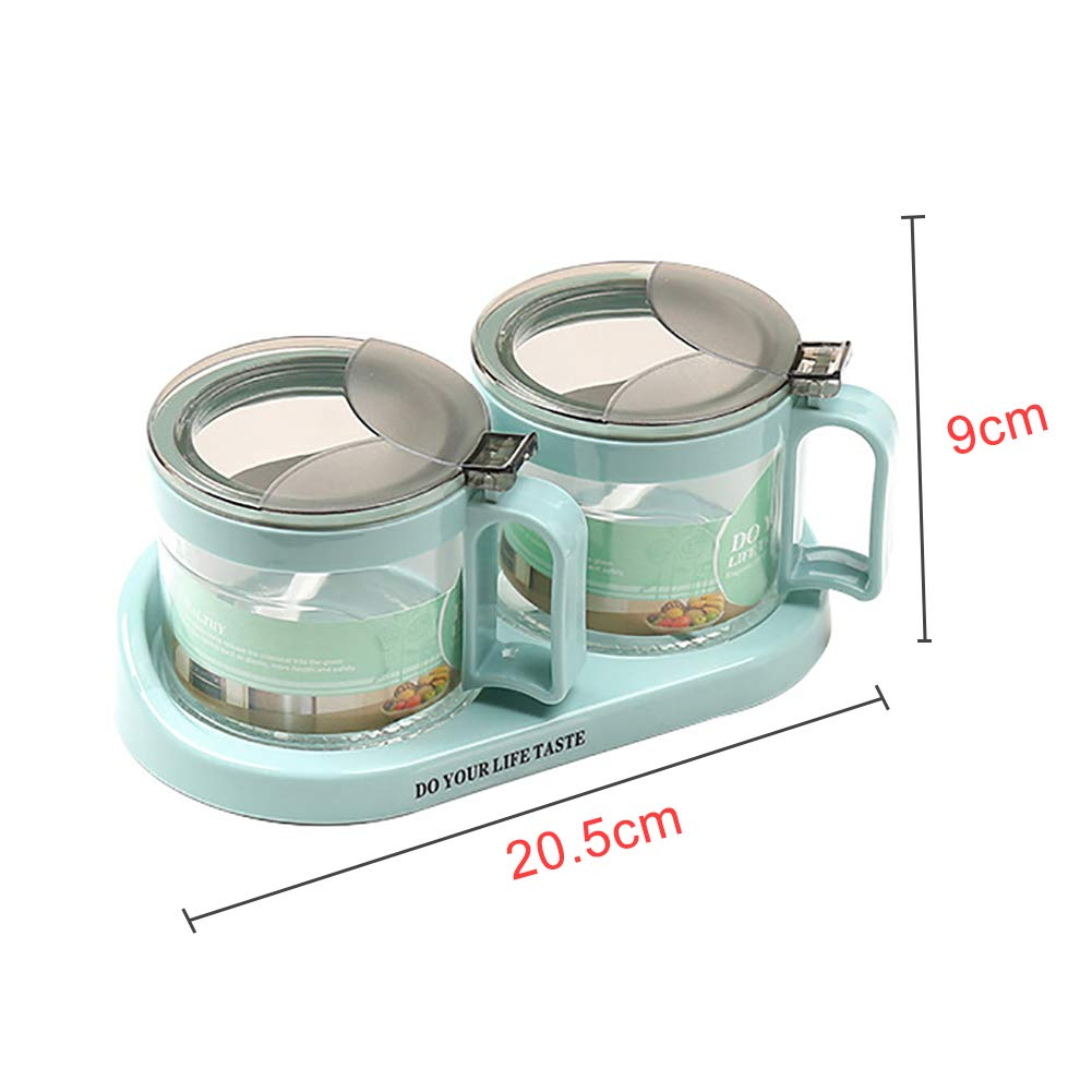 heaven2017 Spice Jar Condiment Storage Seasoning Bottle Container Condiment Pot Double Jar by heaven2017 (Image #8)