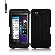 32nd Shock proof defender heavy duty tough case cover for Blackberry Z10 - Black