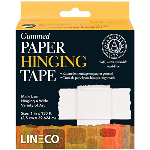 Lineco Water-Activated Gummed Frame/Hinging Tape, 1-Inch x 130-Feet (ANL5330751)