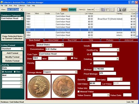 Coin Collector's Assistant Software - Version 6