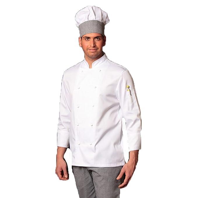 Fratelliditalia Giacca Cuoco Chef Giacca Bianca Nera Blu Celeste Grigia  Rossa Marrone Vari Color  Amazon.it  Sport e tempo libero a9cca18aa9d6