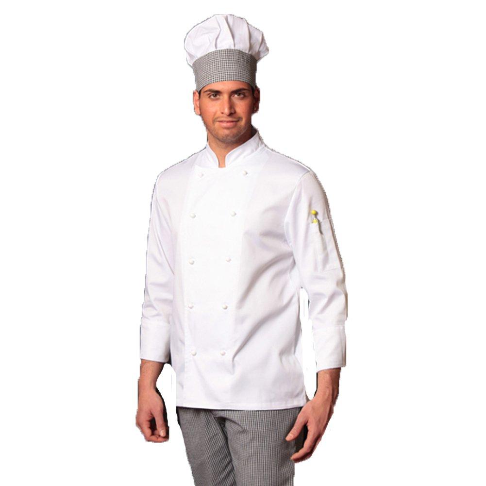 completo bianco da cuoco giacca e pantalone da cucina sale e pepe con cappello FRATELLIDITALIA
