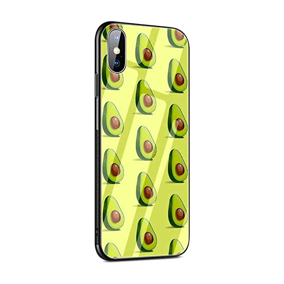 Amazon.com: Z-108 Avocado Fruit Tempered Glass Case Back ...