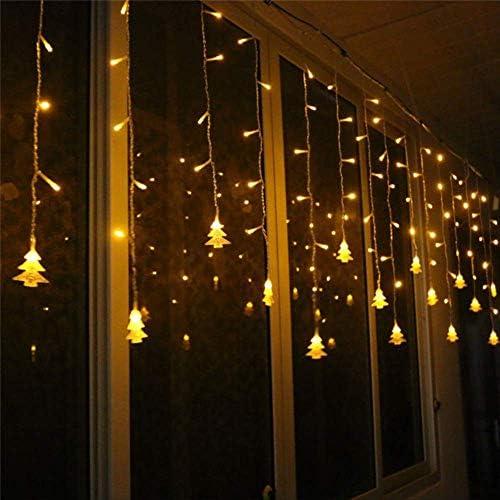 No brand Weihnachtsbeleuchtung Außendekoration 5m Droop 0,4-0,6m LED Vorhang Lichter Weihnachtsfeier dekorative Lichter EU-Stecker (220V) Warmweiß