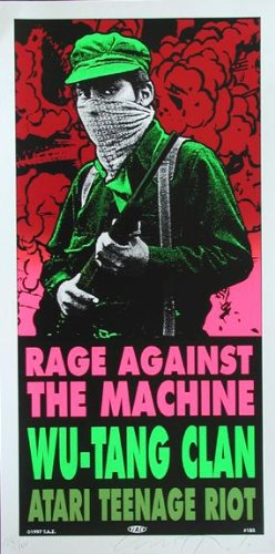 (Taz - Rage Against the Machine/Wu-Tang Clan Silkscreen Signed Numbered Limited Edition Rock Concert Poster)