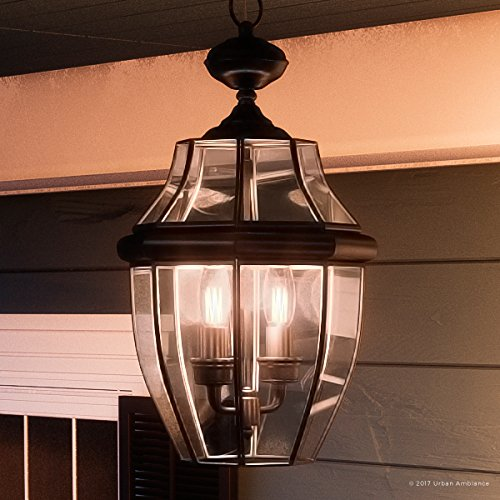 Large Colonial Outdoor Lighting (Luxury Colonial Outdoor Pendant Light, Large Size: 19