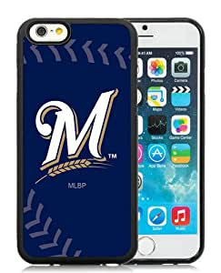 High Quality iPhone 6 4.7 Inch TPU Case ,Cool And Fantastic Designed Case With Milwaukee Brewers Black iPhone 6 Cover