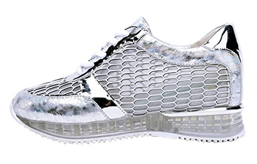 Lesrance Women's Gauze Increased Within Shoe Color Silver Size 8