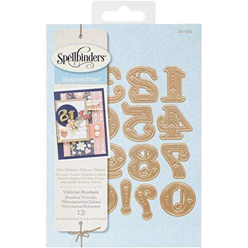 Spellbinders S4-540 Shapeabilities Victorian Numbers Etched/Wafer Thin Dies