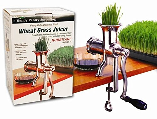 Living Whole Foods HJ Handy Pantry Manual Stainless steel Wheatgrass Juicer - Hurricane HJ by Living Whole Foods