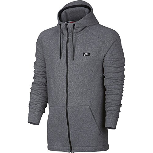 Nike mens M NSW MODERN HOODIE FZ FT 805130-091_S - CARBON HEATHER