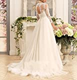 Kevins Bridal Womens A-Line Wedding Dresses 2017 Long Lace Bridal Gowns Sleeves