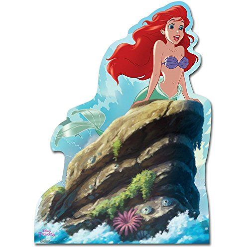 Advanced Graphics Disney The Little Mermaid Room Decor - Life Size Ariel Cardboard Standup Photo Prop Decoration