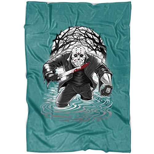 Freddy Krueger A Nightmare On Elm Street Film Series Soft Fleece Throw Blanket, Jason Voorhees Halloween Friday The 13Th Blanket for Bed and Couch (Medium Fleece Blanket (60