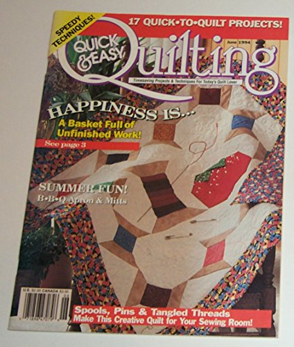 Design Bbq Mitt - QUICK & EASY QUILTING magazine June 1994 Volume 16 Number 3 (Timesaving Projects & Techniques For Today's Quilt Lover, Designs, Patterns, Quilts, Speedy Techniques, BBQ apron & mitts)