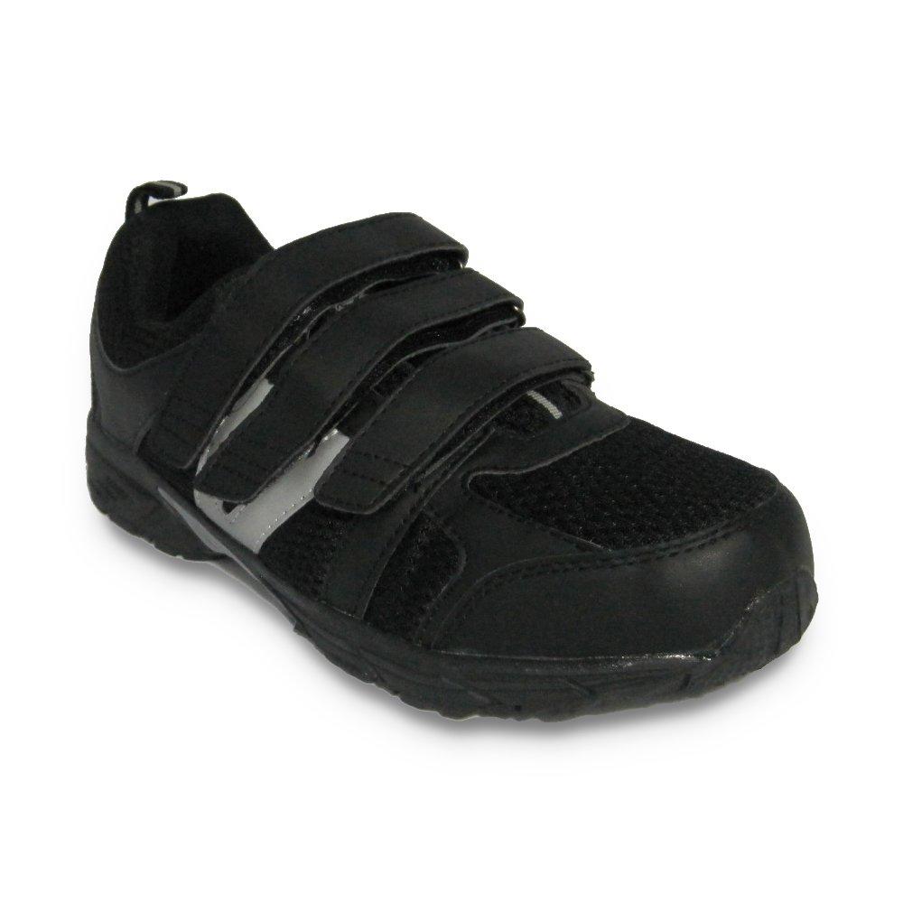 Dr Zen Jordan Men's Comfort Therapeutic Extra Depth Shoe leather/mesh velcro B00JUWJLHC 13.0 X-Wide (4E-6E) Black/Silver Velcro US Men|Black/Silver