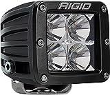 Rigid Industries 201113 D-Series Pro Flood Light; Surface Mount; Hybrid; 4 White LEDs; Black Square Housing; Single; For Sale