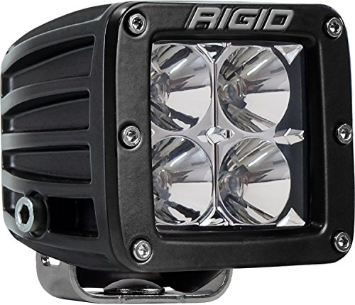 Rigid Industries 201113 D-Series Pro Flood Light; Surface Mount; Hybrid; 4 White LEDs; Black Square Housing; Single; For Sale