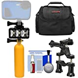 Precision Design WPL40 Waterproof Underwater Diving LED Video Light + Buoy + Bike Mount + Case Kit for Waterproof Point & Shoot, GoPro & Action Cameras