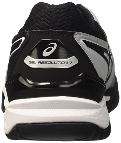 Hombre Black para Zapatillas 7 Asics Gel Mid de Gris White Resolution Grey 9690 Tenis Axwp40q