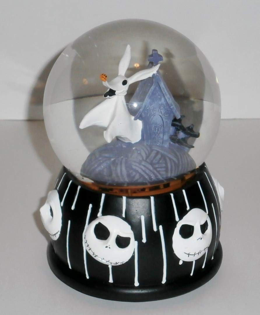 Nightmare Before Christmas Zero Dog Musical Snow Globe Disney`