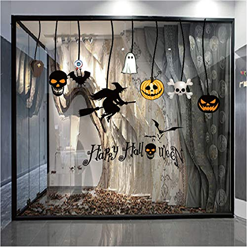Wall Stickers Halloween Static Electricity Wall Sticker Window Home Decoration Decal Decor Home Garden Kitchen Accessories Decorative Stickers Wall murals ()