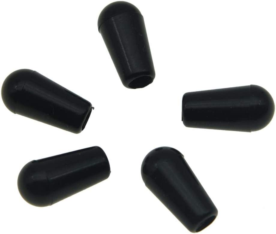 KAISH 5-Pack USA Thread 3 Way Toggle Switch Tip Switch Knob For Gibson//Switchcraft Pickup Selector Switch Black