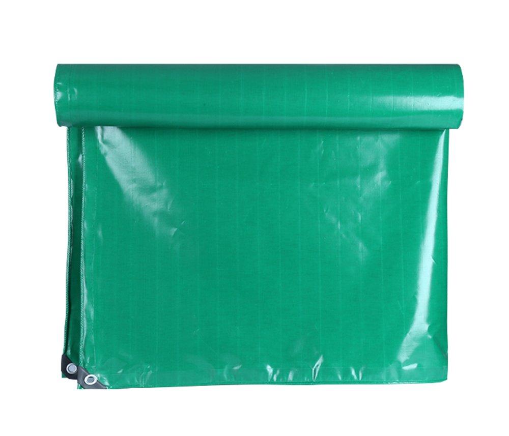 超薄型、薄緑色のPVCナイフスクレーパーのターポリン3つの布 (サイズ さいず : 6 x 10m) B07FNS257C  6 x 10m