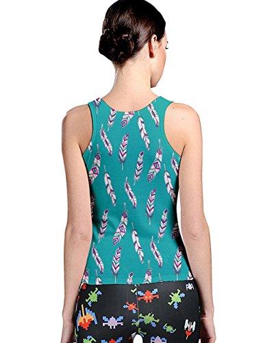 CowCow - Camiseta sin mangas - para mujer Teal