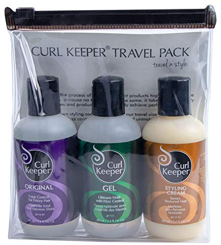 Curly Hair Solutions Curl Keeper Travel Pack (3x 3.38 Ounces/100 ml.) - Curl Keeper