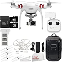DJI Phantom 3 Standard Quadcopter Drone with 2.7K Camera and 3-Axis Gimbal & Manufacturer Accessories + DJI Propeller Set + Water-Resistant Hardshell Backpack + 7PC Filter Kit (DJI Official Refurbished)