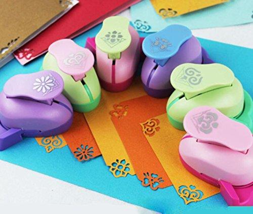 Vanvler Embossing DIY Corner Paper Printing Card Cutter Shaper Scrapbook Embossing Device Kids Handmade Gift (Peony)